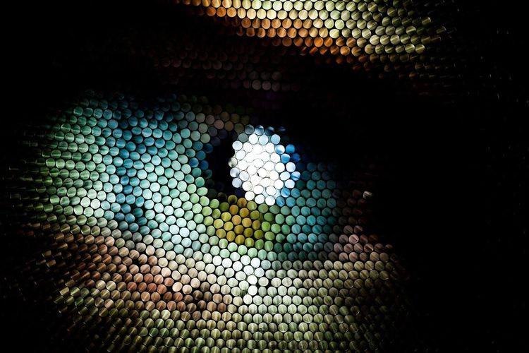 No People Close-up Pixelated Eye Strawcamera Straws Abstract Textured  Illuminated Multi Colored Full Frame Pattern