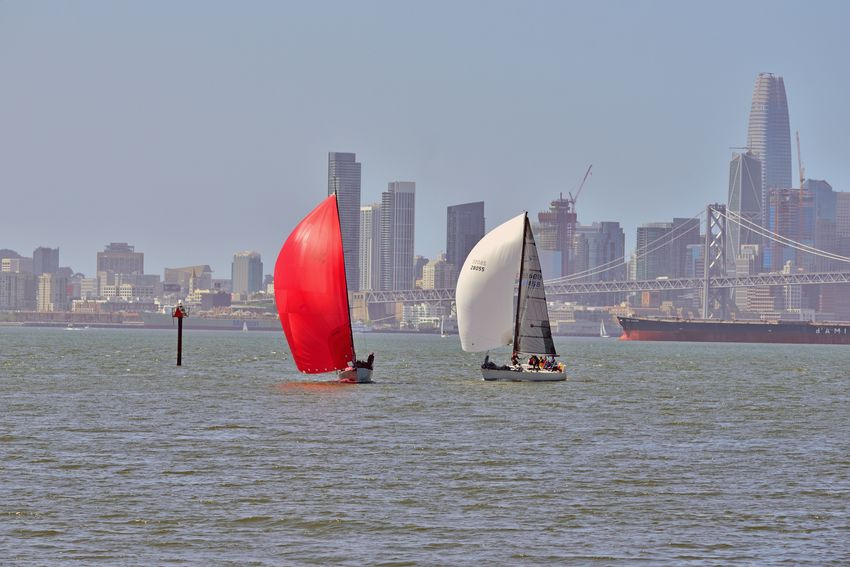 Sailing Middle Harbor 10 Port Of Oakland,Ca. Middle Harbor The Color Of Sport Sailboats Racing Sailing Tacking San Francisco Bay Bay Bridge Cityscape San Francisco Skyline Skyscrapers Freighter Sports Photography Open Sails People On Board Teamwork Enjoying Life A Day On The Bay Waterfront♥ City Urban Skyline Modern Water Downtown District Sky Financial District  Suspension Bridge Cable-stayed Bridge Engineering