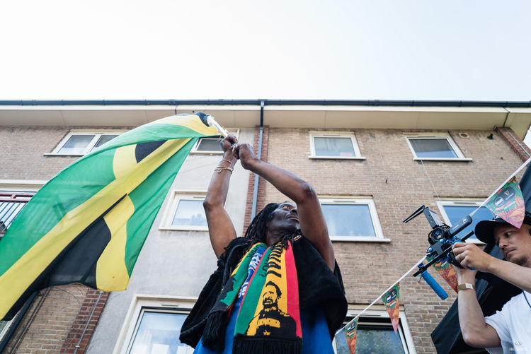 Notting Hill Carnival 2016 Arch Architecture Building Building Exterior Built Structure Clear Sky Cloud - Sky Colorful Day Jamaica Low Angle View Multi Colored National Flag No People Sky Window