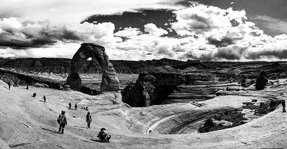 Delicate Arch Arches National Park, Utah B&w Photography Geological Formation Delicate Arch Hike Nature Photography Nature Monochrome Photography Taking Photos Monochrome