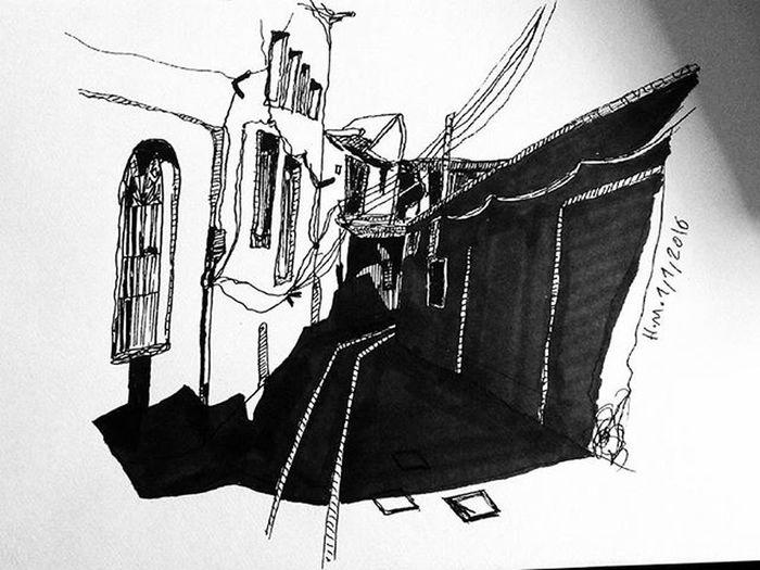 اولین کروکی سال 2016 ابیانه . صاحب اثر اصلی ، آرتور امید آذری . کروکی معماری اسکیس راندو طراحی ARCHITECT Architecture Sketch Sketcher Sketchbook Sketch Architectural