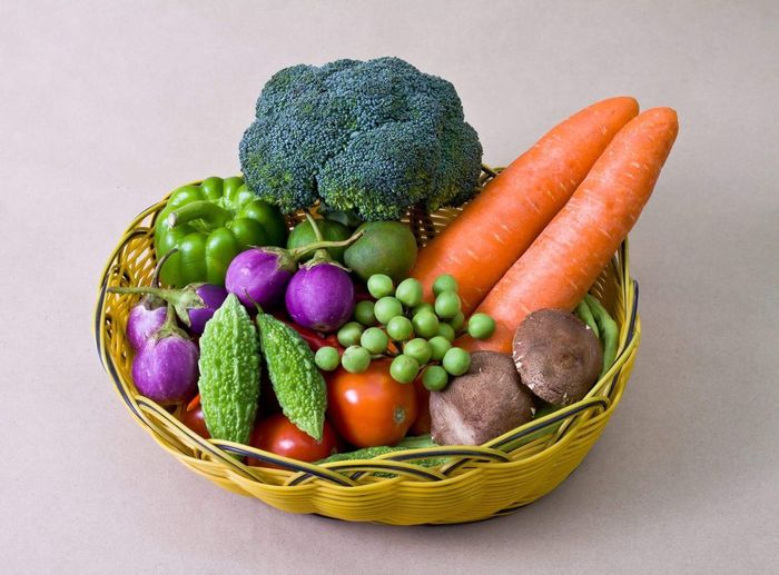Vegetable basket Vegetable Basket Food Food And Drink Still Life Healthy Eating Studio Shot Variation Freshness Raw Food Indoors  No People Raw Potato White Background Close-up Day