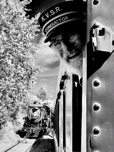 Kettle Valley Railway's old steam engine AMPt Community Railways_of_our_world Shadows & Light Black And White Photography 1912 Steam Engine Locomotive