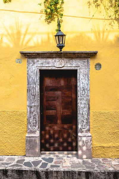 Paint The Town Yellow Architecture Building Exterior Built Structure Closed Door Day Door Doorway Entrance Entry No People Open Door Outdoors Yellow