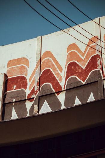 ram ram ram ram Ramen Architecture Pattern Clear Sky Cable Sunlight Built Structure Building Exterior Low Angle View No People Sky Havana, Cuba Havana Habana