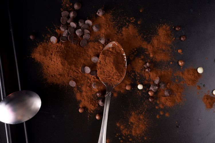 Chocolate Spoon Food And Drink Still Life Food Close-up