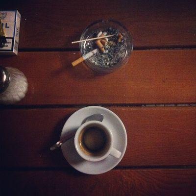 "Coffee & Cigarettes - and ""australian"" dinner w/ jenna_ #coffeediary Coffeediary"
