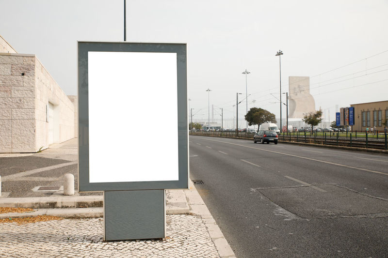 street advertising billboard Advertising Rocket Street Advertising Architecture Billboard Blank Building Exterior Built Structure City Clear Sky Commercial Copy Space Day Empty No People Outdoors Placard Road Road Sign Sky Street Transportation