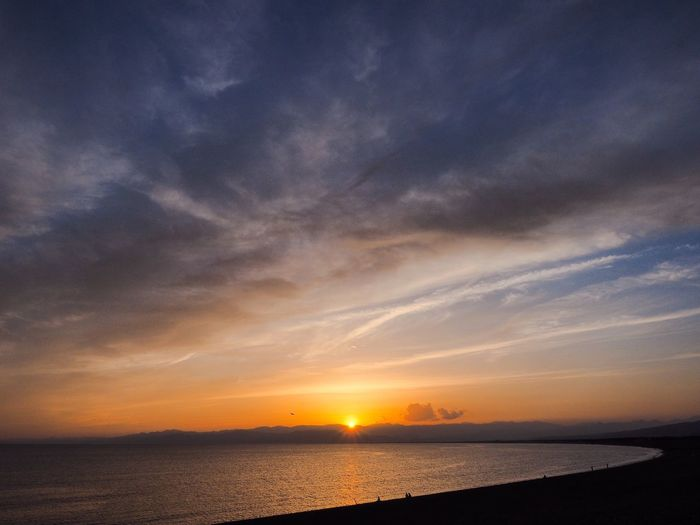Just sunset. Simple Quiet Love Horizon Over Water Japan Shizuoka M.ZUIKO DIGITAL OM-D E-M5 MarkⅡ Scenics - Nature Scenics Outdoors Dramatic Sky Tranquil Scene Tranquility Silhouette My Best Photo Still Life Beauty In Nature Nature Reflection Sky And Clouds Sky Sea Sunlight Sunset