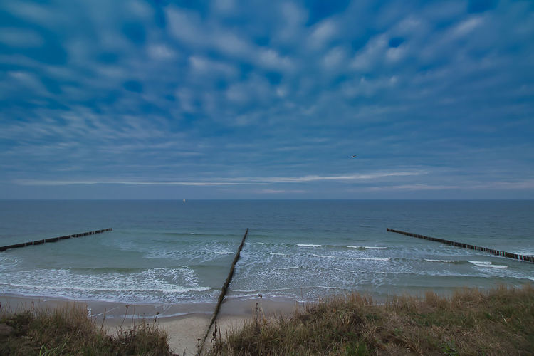 Water Sea Beach Sky Land Horizon Over Water Horizon Scenics - Nature Beauty In Nature Cloud - Sky Motion Wave Tranquil Scene Non-urban Scene Tranquility No People Nature Day Blue