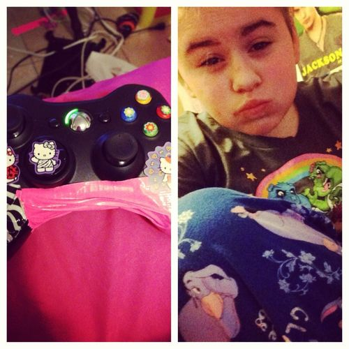 What my day consists of, video games and pajamas <3 (;