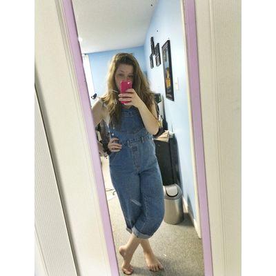 Barnyard bash was fun today Girl Teen Country Overalls Fun Times Selfie