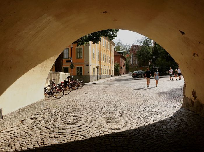 Tunnel Over Street In City
