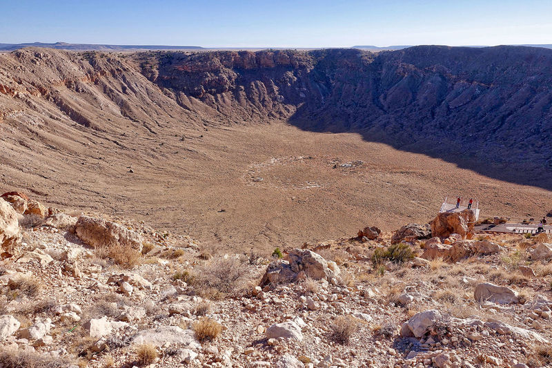 The meteor crater near Flagstaff in the USA. Arizona Clear Sky USA Crater Day Meteor Crater No People Outdoors Scenics Stones Tranquil Scene Winslow