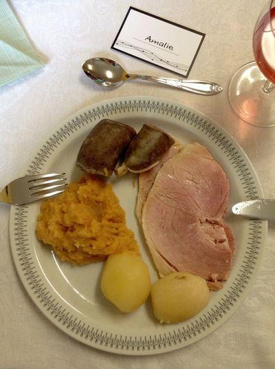 """""""Kjøtt og mør"""" in a Norwegian confirmation. Food Norway Confirmation Dinner"""