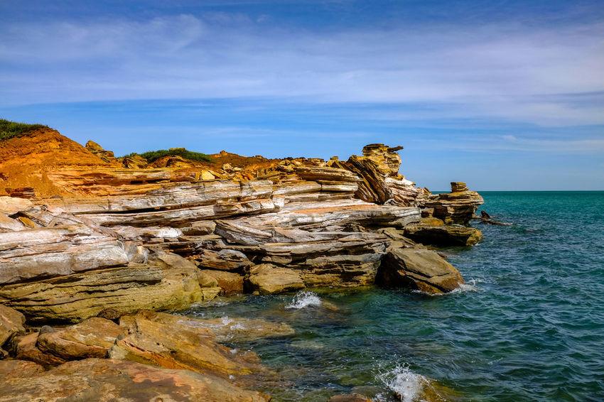 Gantheaume Point rocky coastline Australia Australian Landscape Coastline EyeEm Best Shots Gantheaume Point The Week On EyeEm Western Australia Beauty In Nature Day Nature Outdoors Rock - Object Rock Formation