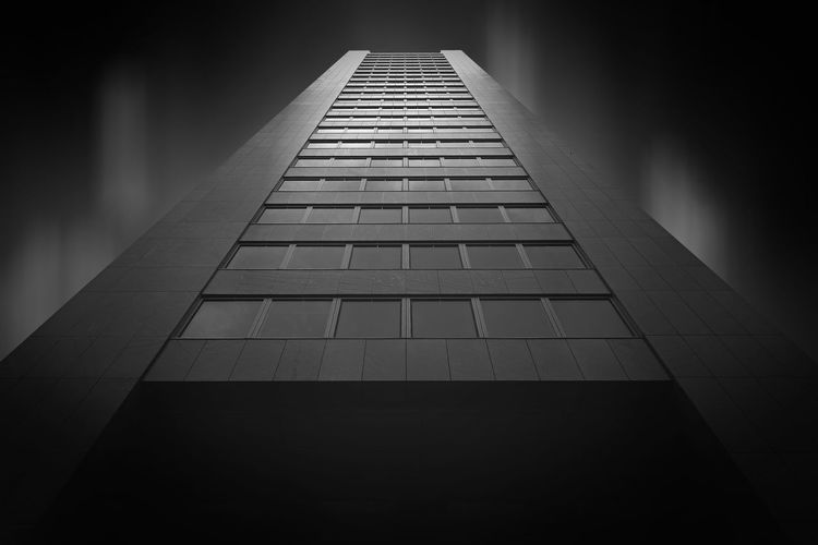 Ares Tower by architect Heinz Neumann in Donau City Vienna Architecture Architecture Ares The God Of War Blackandwhite Building Building Exterior Built Structure City Diminishing Perspective Donau Cit Façade Illuminated Low Angle View Modern Night No People Office Building Outdoors Pattern Sky Skyscraper Tall Tall - High Tower