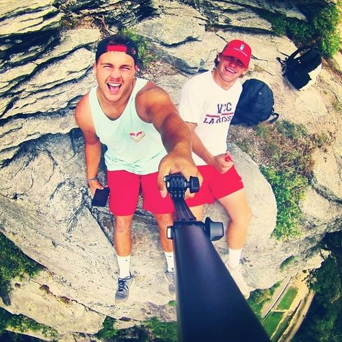 Thank you @its_tinkkkk for my gopro pole. I Love it. ? Harpersferry with @t_rust13 Gopro Gopole goproselfie beahero mountain cliffhanger gopropic goproguys family travel