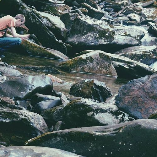 Vscocam Portrait Rocks Gatlinburg Tennessee River