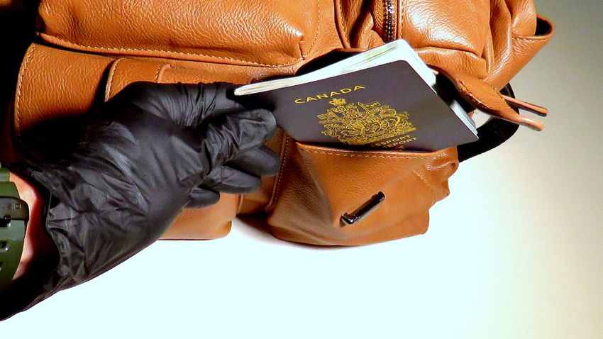 Identity Theft Identity Stolen Identity Passport Crime Crime Rate Pickpocket Stealing Safety Measures Watch Issued Government Customs Immigration Canadian Passport Passeport Canada Canada Illegal Premium Collection Getty Images Eyeem Collection