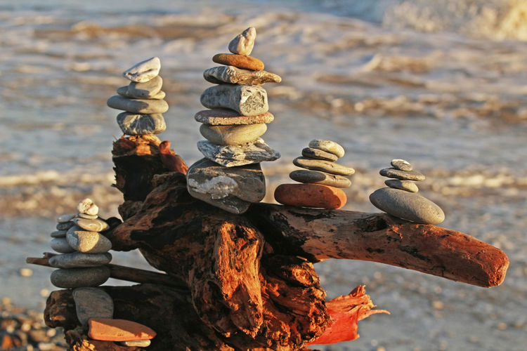 After The Storm Close-up Equilibrium Equilibrium Of Life Focus On Foreground No People Outdoors Peace Peace And Quiet Quiet Quiet Moments Red And Grey Remember Sculpture Sea Sea Storm Stack Stones Stones & Water Waves Wood Wood - Material