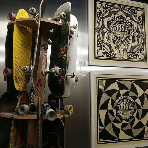 Streetart Art 42 Shepard Fairey Art Skateboard Skatelife Obeygiant