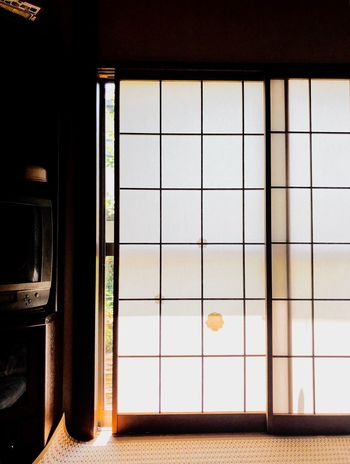 Shoji・traditional screen doors Summer Japanese  Japan Shoji EyeEm Selects Window No People Indoors  Architecture Built Structure Day Building Metal Nature Glass - Material Transportation Sunlight Transparent Grate Sky Safety Geometric Shape Pattern Security