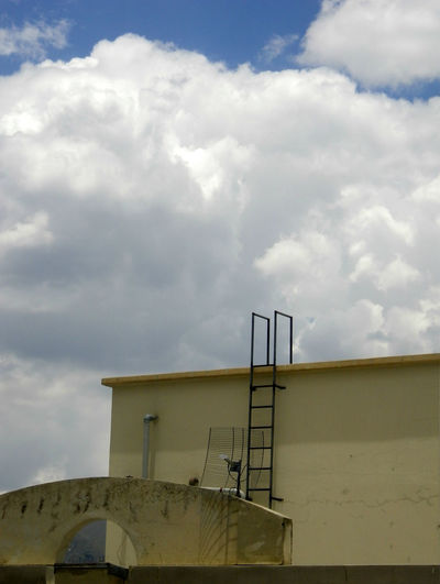 (No) escape. La Paz, Bolivia. City Roof Rooftop Architecture Building Built Structure Cloud - Sky Clouds Day End Escape Low Angle View Nature No Escape No People Outdoors Sky Stairway To Heaven Where To Go?