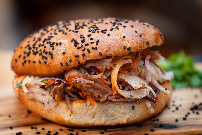 pulled pork burger Bun Burger Food Food And Drink Indulgence Mobile Kitchen Pulled Pork Snack Trend Food Delivery Heroes