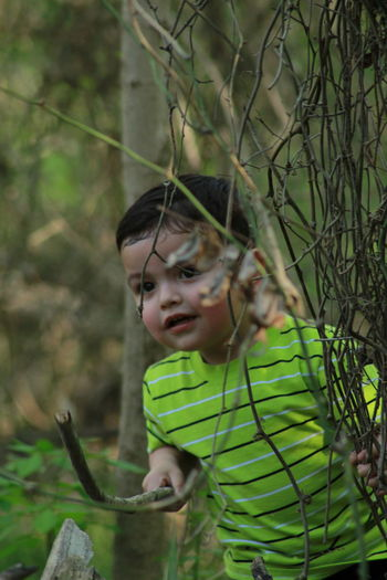 Portait Photography Outdoors Naturelovers Spring Is Coming  Faces In Nature EyeEm Best Shots EyeEmNewHere EyeEm Nature Lover Nephew  Growing Leaf Vein Leaves Innocence Children This Is Aging