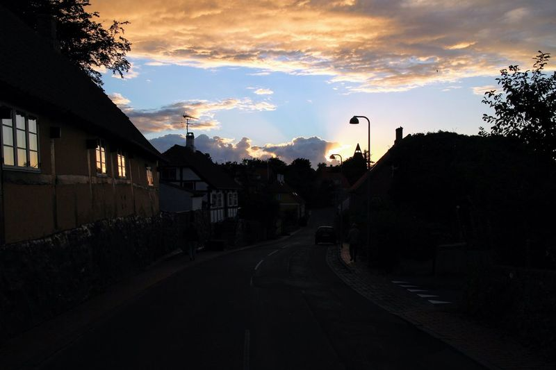 Svaneke village, Bornholm. Bornholm Svaneke Village Night Sunset No People Silhouette Sky Sunset No People Outdoors Night City