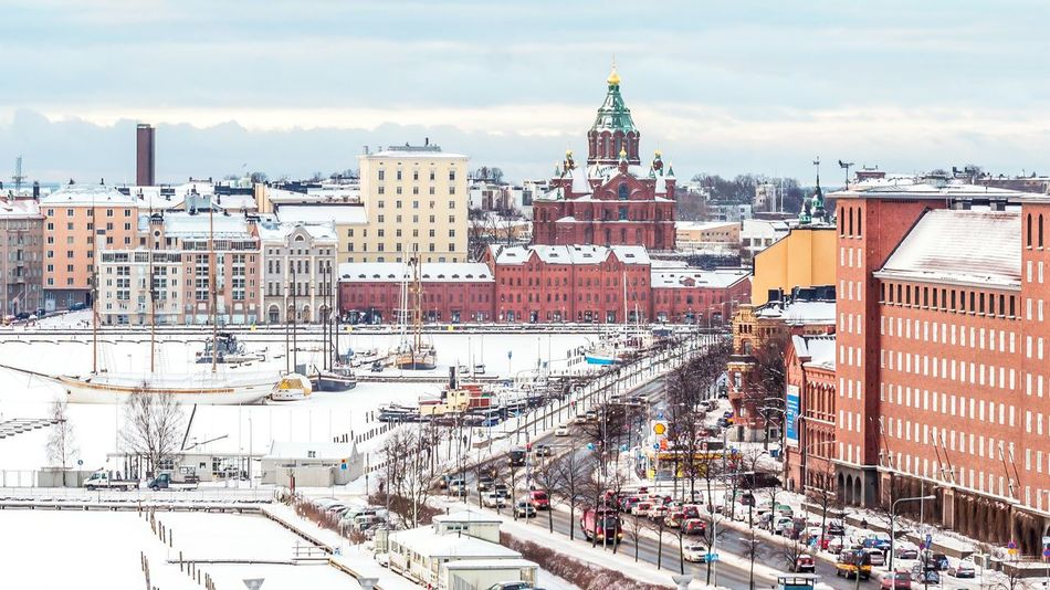 Showcase: February Capital Cities  Perspective Composition Architecture Frozen Ocean Frozen Sea Frozen Nature Gulf Of Finland Katajanokka Helsinki Cathedral Uspenski Uspenskiy Catherdal