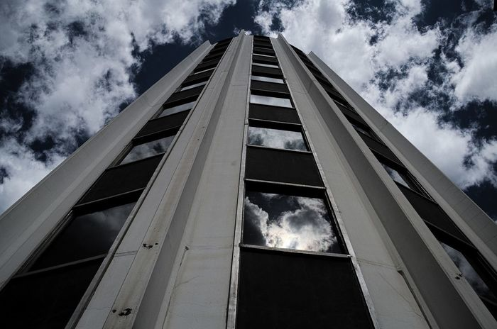 Architecture Building Exterior Built Structure Cloud - Sky Day Look Up Low Angle View Nature No People Outdoors Perspective Sky Up