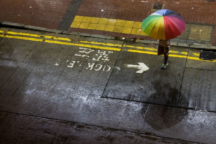 Rainy night. Crossing Midnight Rainy Days Rainbow Freedom HongKong Walking Mongkok Kowloon Raining Umbrella Lgbt Pride Nightphotography Street Streetphotography Night