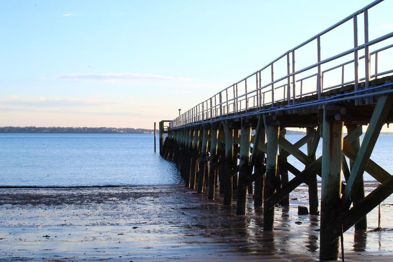 Water Sky Nature Sea Built Structure Transportation Pier Waterfront