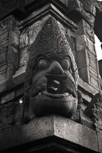 head bas-relief , borobudur temple , java island Art And Craft Sculpture Representation Creativity Craft Statue Architecture Human Representation Low Angle View Built Structure No People Spirituality Belief Religion History The Past Male Likeness Building Place Of Worship Carving - Craft Product Carving Ancient Civilization Ornate