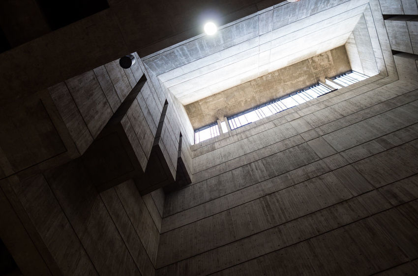 Architectural Feature Architecture Boston Brutalism Built Structure City Hall Geometry Low Angle View