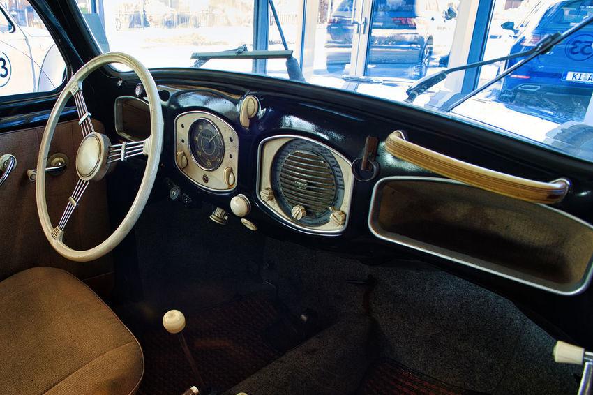 VW Beetle Car Car Interior Mode Of Transport Oldtimer Transportation Vehicle Interior