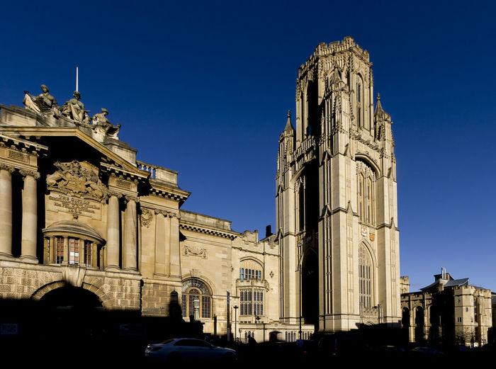 Wills-memorial building, University of Bristol, Bristol. Bristol, England Blue Sky Buildings Education Sunshine Tower University Of Bristol Willsmemorial Yellow Building