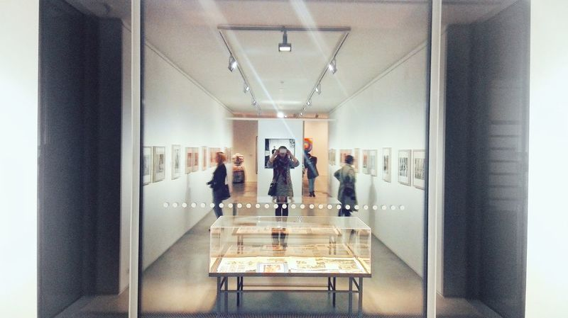 Window Reflections Art Gallery Gallery Photography Exhibition Real People People People And Places Indoors  Women Architecture Built Structure Different Perspective From My Point Of View Mobilephotography Honor6 Citylife Lifestyles The Week On EyeEm