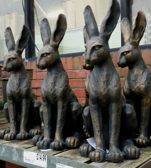 Hares Hare Statues Statues Of Hares Garden Centre Hares For Sale Garden Furniture Fashionable Garden Statues Long Ears Countryside Animals Sacred To The Celts Hares At Dunhuang Caves Factory Sculptures