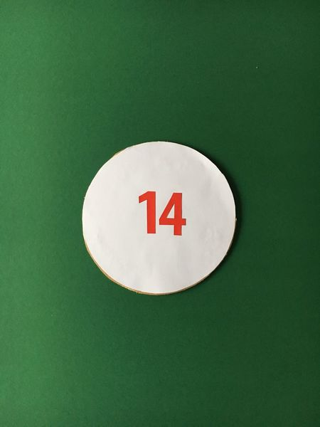 14 Fourteen Studio Shot Green Background No People Green Color Close-up Communication Text Day Christmas Time Christmas Decoration Numbers Christmas Ornament Christmas Xmas Adventskalender Numbers Only Number Advent December Christmastime