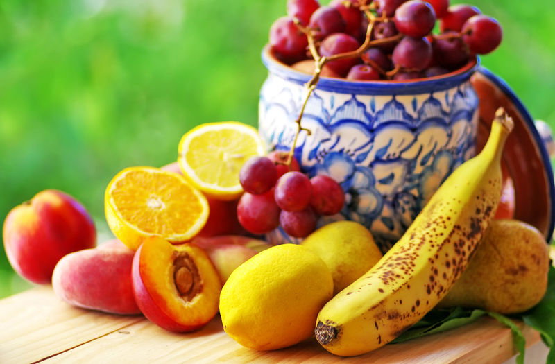 Close-up of fresh fruits on table