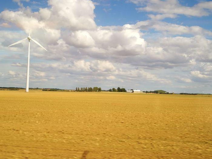 Wind Power Cloud - Sky Wind Turbine Landscape Rural Scene Alternative Energy Tranquility Tranquil Scene Scenics Plain Fields Beauce Viewfromtrain