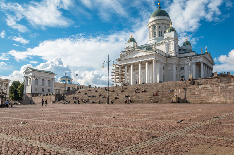 Helsinki Cathedral in Finland Cathedral Finland Helsiki Helsinki Helsinki Cathedral Architectural Column Architecture Belief Building Building Exterior Built Structure Cloud - Sky Day Dome Helsinki,finland History Nature No People Outdoors Place Of Worship Religion Sky Spirituality The Past Travel Destinations