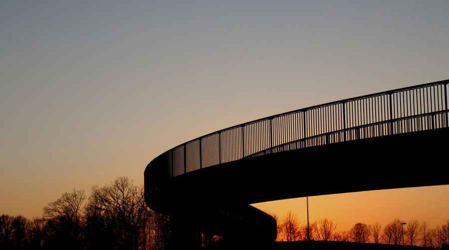 Sunset near the bridge