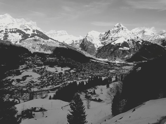 Blick auf Engelberg/Hahnen Alps Winter Snow Obwalden Mountain Nature No People Day Sky Outdoors Close-up Shades Of Winter