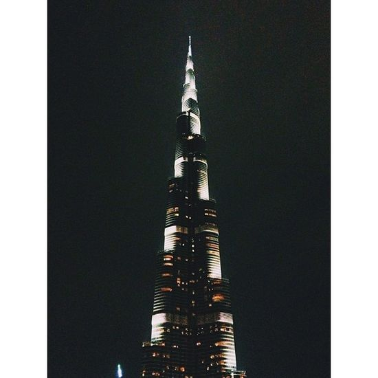 the Burjkhalifa in Dubai edited by @hahnbo