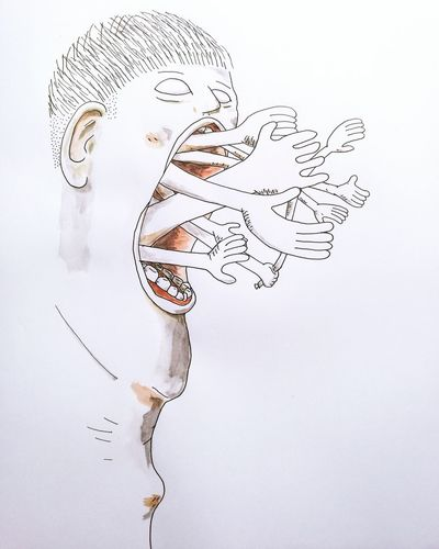 White Background Human Body Part Huawei Huawei p9 P9 Art Illustration Face Hands Watercolor Watercolour Ink Fineline Artline Unipin Filipino Art Filipino Artist Philippines Pilipinas People Drawing Painting Paint Sketch Sketchbook
