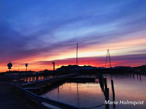 Sunset Sky Water Nautical Vessel Cloud - Sky Sea No People Moored Beauty In Nature Outdoors Nature Scenics Mast Harbor Travel Destinations Sailboat Built Structure Architecture Yacht Building Exterior Gothenburg, Sweden Saltholmen